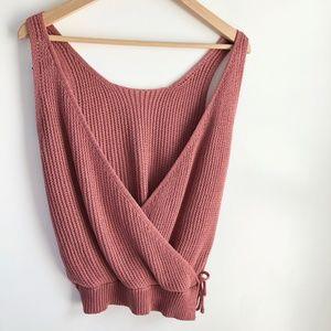 002ffcef0b5 Tops   Open Back Summer Knit Tank Crop Top In Clay Nwt   Poshmark